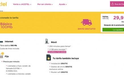 JAZZTEL subirá 2€/mes su tarifa básica