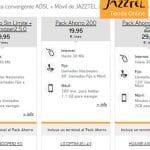 Jazztel mejora sus ofertas convergentes con 2GB e ilimitadas y regalando terminales con permanencia.