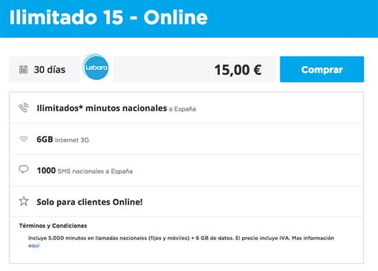 lebara3gbeilimitadas10o6gbeilimitadas15euros