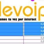 Llevoip permite llamar a móviles a 3,5cts/min sin cobrar establecimiento de llamada.
