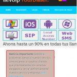 Llevoip, un proveedor de voz IP que cerrará a final de Enero de 2014 ante la crisis.