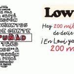 LOWI celebra sus 200 000 clientes con 200MB y oferta P9.
