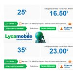 LYCAMOBILE también es consciente que se necesita cada día más tráfico 5GB por 23€.