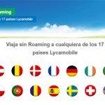 Lycamobile, interesante para viajar sin pagar roaming con sus bonos en los países que tienen red virtual.