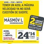 MASMOVIL regala 2 lineas de móvil de 100 minutos con la ADSL imitando las ofertas de JAZZTEL.
