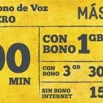 MASMOVIL lanza un bono de 500 minutos en su cero con 1GB por 17€