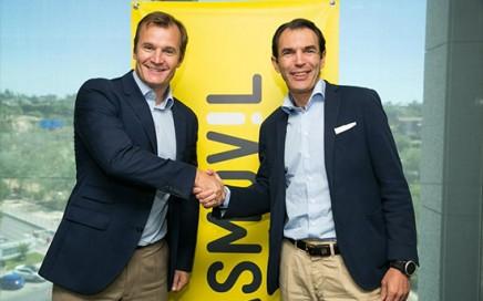 Meinrad Spenger, Consejero Delegado de MÁSMÓVIL y José Antonio López, Consejero Delegado de Ericsson España, durante la firma del acuerdo.