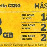 MASMOVIL mejora su tarifa de 2,5GB con 3GB por el mismo precio compatible tarifa CERO.
