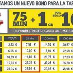 MASMOVIL reemplaza la tarifa MUNDIAL por la CERO con 75 minutos en vez de 90 minutos por 10€.