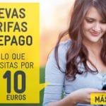 MASMOVIL mejora sus tarifas de prepago con bonos configurables para hablar y navegar desde 10€/mes.