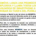 MASMOVIL hasta final de Mayo ofrecerá 3 meses a 9,99€/mes su tarifa ilimitada del pueblo: Sin permanencia. Prueba MASMOVIL.