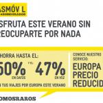 MASMOVIL lanza un excelente precio en Roaming pagando solo 2,5€ el mes que lo necesitas.
