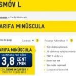 """MASMOVIL estrena una tarifa especial """"Minuscula"""" que incluye 500MB y 3,8ct/min sin pagar cuota mensual por un cons. mínimo de 5€/mes."""