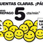 Masmovil ofrece 5c/min en prepago sin consumo mínimo con tener al menos 10€ de saldo a final de mes.