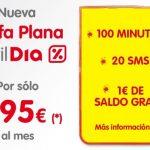 En noviembre Tarifa plana 100 minutos movilDia por 9,95€/mes