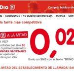 Movildia saca un bono de 5€ que permite reducir su tarifa a 7,5c/establecimiento y 2,5c/min hasta 5 minutos por llamada. No es muy competitiva.