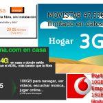 Conexión móvil en casa sin usar fibra o adsl: total movilidad con las mejores alternativas 3G y 4G del mercado.