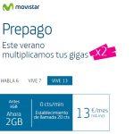 MOVISTAR llega tarde con su promo de verano: 2×1 en datos Agosto y Septiembre