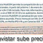 El servicio de Movistar segunda linea dejará de ser gratuito en Enero y la multisim costará 1€ más.