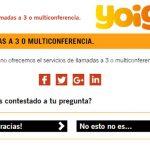 El servicio de multiconferencia: ¡No existe en YOIGO!