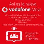 VODAFONE lanzará el 18 de Abril una nueva oferta con TV y más datos subiendo su cuota.