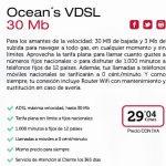 Oceans lanza su ADSL con 3MB de subida por 24€+IVA con linea de teléfono.