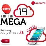 Oceans estrena la tarifa Mega 19 con 2GB+70min+100sms por 19€ compitiendo con la tarifa plana de SIMYO que por 19,95€ ofrece 150 min +2GB.