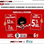 Tarifas especiales Pepephone a socios de la OCU: 6€ por 300MB.
