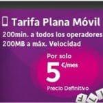 ONO ofrece a sus clientes una oferta de 5€/mes 200min+200mb o 10€/mes 500 min + 200mb para siempre. ¡Solo la primera linea!