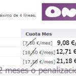 La compra de ONO por parte de Vodafone supone un incremento de 1,82€/mes en sus lineas adicionales.