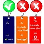 VODAFONE y ORANGE podrían estar limitando su red 3G en las tarifas. MOVISTAR no lo hace ni en sus OMVs.