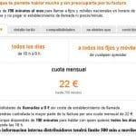 Orange empeorara su tarifa plana de 22€/mes a 500 min amoviles