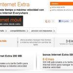 Orange mejora sus bonos extra cobrando 6€ por 500MB adicionales.