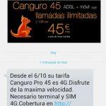 Orange añade 4G a su Canguro 45 para competir con las ofertas de Movistar.