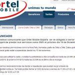ORTEL MOBILE cesará su actividad el 15 de Diciembre pese a sus tarifas low cost.