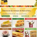 Pans&company imita a Rodilla: Bocadillos gratis por inscribirse en la web y mucho más.