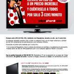 Pepephone ofrece 3c/min durante un año si les compramos una TV LG.
