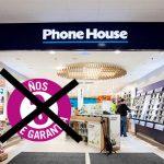 PHONE HOUSE dejo de ofrecer 3 años de garantía en sus móviles libres.