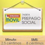 Eroski ofrece su tarifa social en prepago sin consumo mínimo ni cuotas mensuales: La mejor tarifa prepago sin datos con red Vodafone.