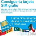 Lebara pese a estar en venta sigue captando clientes: Regala la SIM e incluso 1€ de saldo.
