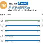 La tarifa de TUENTI que solo se comercializa en tiendas: 1GB+100 min VOZ GSM + ilimitada DIGITAL +200 SMS 16€ prepago y contrato.