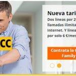 RACCTEL comercializa 2 ilimitadas con 1GB por 29,95€ más lineas a 6€.
