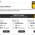Racctel lanza una tarifa de 10€ con 120 minutos y 300MB sin cobrar exceso.