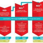 Vodafone cambiará sus tarifas por unas tarifas casí ilimitadas Red y unas mas reducidas Base que permiten contratar su ADSL añadiendo 20€/mes.