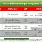 Vodafone permite contratar con un descuento de 10€/mes hasta 4 lineas adicionales permitiendo contratar por 25€ una segunda linea con llamadas ilimitadas.