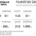 República móvil mejora ligeramente sus tarifas con 6,5€/mes 1GB+0ct/min.