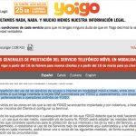 Las nuevas condiciones de YOIGO: peligrosas para mantener clientes. ACTUALIZADO