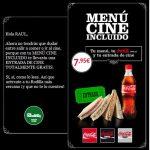 Rodilla te invita al cine cadena Yelmo y Cinesa con sus menus en tiendas adheridas.