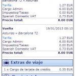 Ryanair solo incrementa en 0,35€ por pasajero ida y vuelta el importe por pagar con tarjeta. ¡Sin más lios! ¡Sin tarjeta prepago especial!