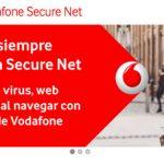 VODAFONE recomienda su SECURE-NET ante los ciberataques por 1€/mes.